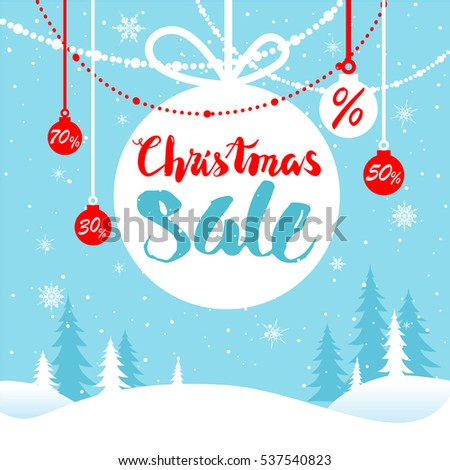 Holiday winter sale