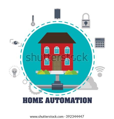 Smart House Design Vector Illustration Eps Stock Vector 307498247 Shutterstock