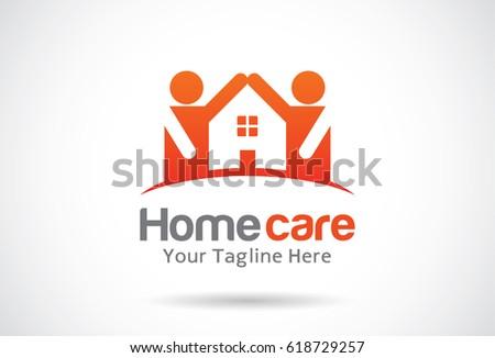Home Care Logo Template Design Vector Stock Vector 346815431 Shutterstock