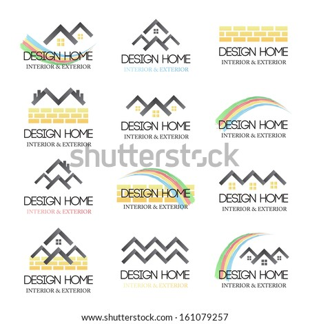 home design icons set isolated on white background vector illustration graphic design editable - Home Graphic Design