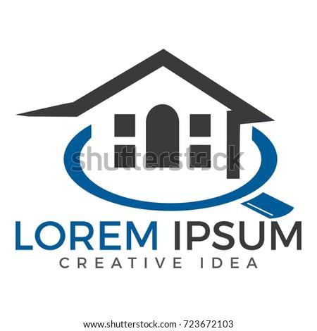 Home Logo Design Real Estate Agent Stock Vector 713213767 ...