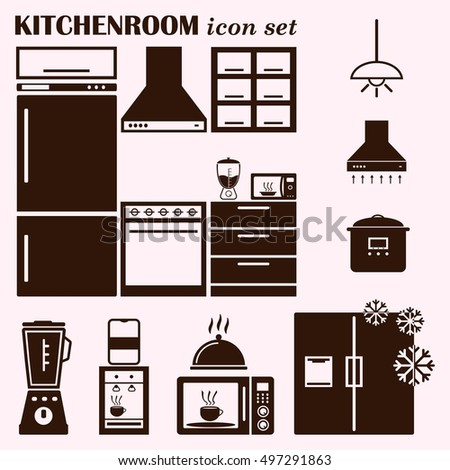 icon kitchen vector stock vector 125005589 - shutterstock