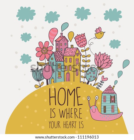 love my family cartoon vector illustration stock vector 134618207 shutterstock. Black Bedroom Furniture Sets. Home Design Ideas