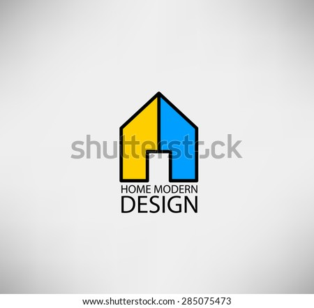 Real estate design concept stock vector 107538002 for Modern house logo