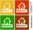 Home sticker set. Vector illustration. - stock photo