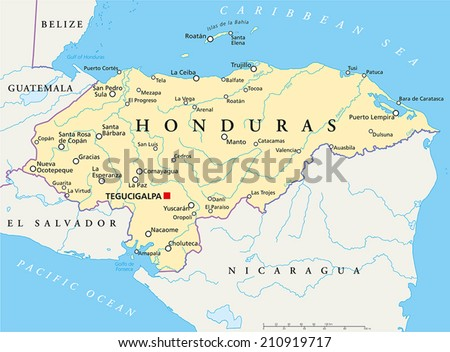 Belize Political Map Political Map Belize Stock Vector - Political map of guatemala