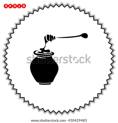 Honey icon. Simple black vector symbol. Logo for web. Image for business.