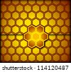 Honeycomb background. Vector illustration - stock vector