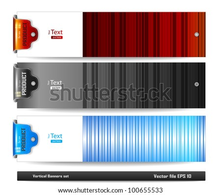 Horizontal banners set