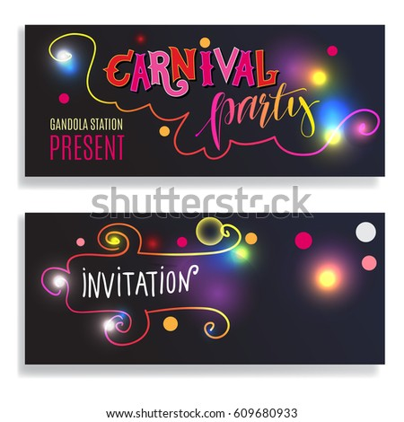 Beautiful Background Design Glowing Text Design Stock ...