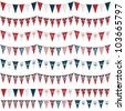 horizontally seamless united kingdom party bunting pack, isolated on white - stock photo