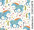horse seamless pattern - stock vector