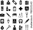 hospital and medical icons - stock photo