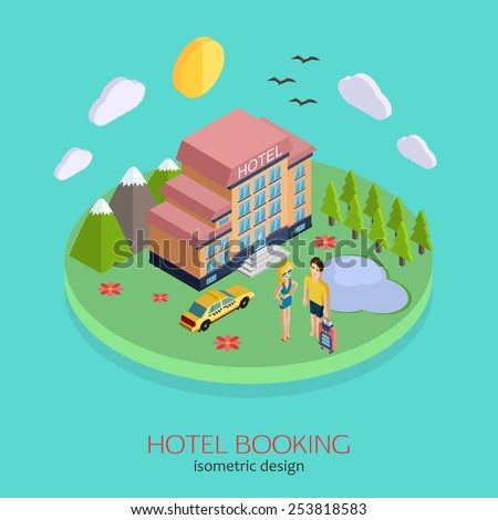 Hotel building icon vector eps 10 image vectorielle for Hotel booking design