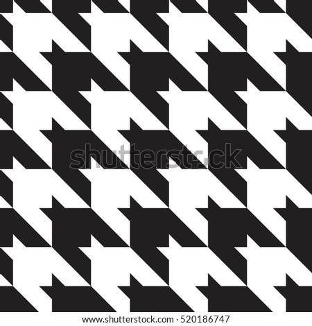 Houndstooth classic black and white seamless pattern