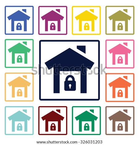 House in safety icon