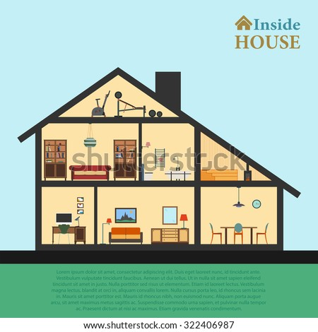 Inside Clipart House Plan as well Living Room Clipart Sala as well Laundry besides Stock Vector House In Cut Detailed Modern House Interior Rooms With Furniture Flat Style Vector Illustration likewise Puzzle Clipart House Outline. on stock vector illustration of the parts a house