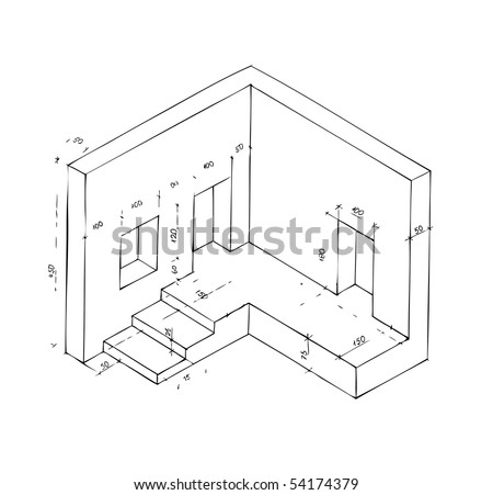 Hand Drawn Illustration Furniture Isolated On Stock