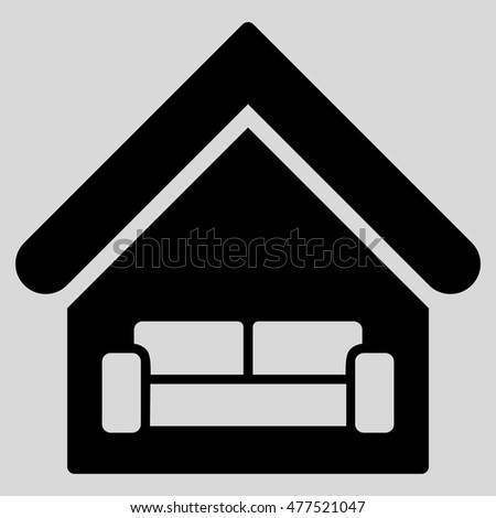 House Interior Icon Vector Style Flat Stock Vector ...