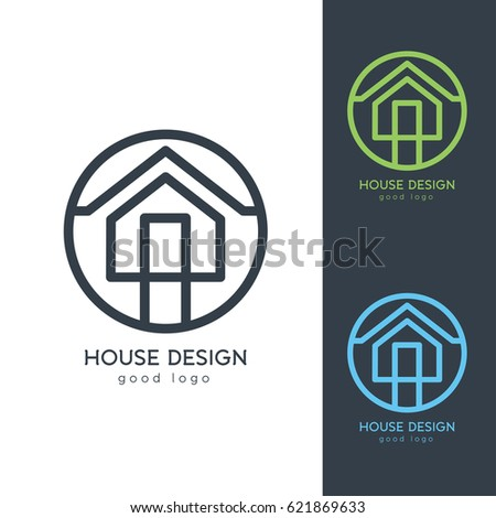 Illustration design business logotype abstract building for Minimalist house logo