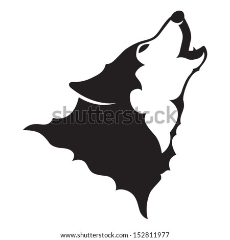 howling wolf vector file stock vector 152811977 - shutterstock