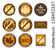 Huge collection gluten free bio seals - stock photo