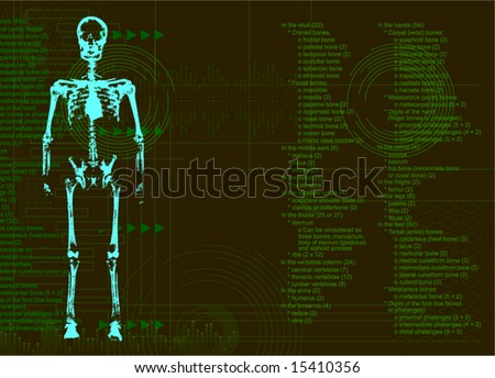 Abstract Matrix Green Background Streaming Code Stock