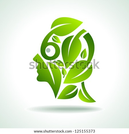 human head, environmental idea vector