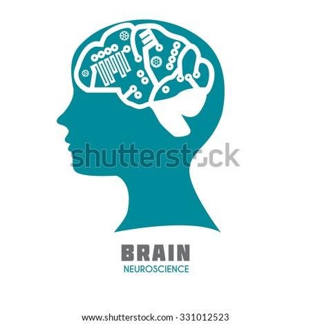 Technology Human Head Electronic Network Vector Stock