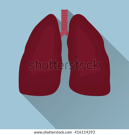 Human lungs emblem, medicine, clinic symbol flat design, cancer diagnostics center, vector