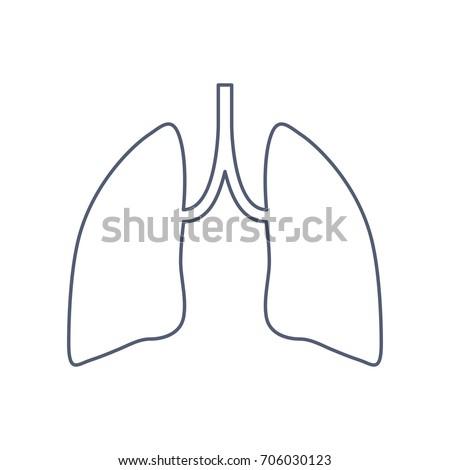 human lung pair lungs line art stock vector 571792753 - shutterstock, Powerpoint templates