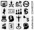 Human resource, finance, logistic and management icons set. - stock vector