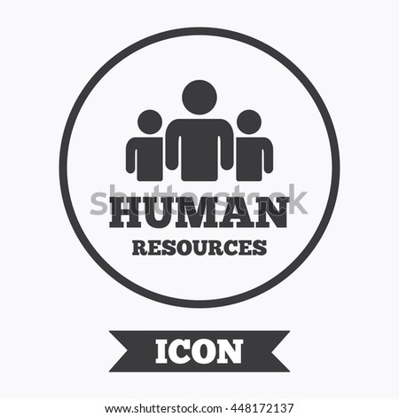 Human Resources Sign Icon Hr Symbol Stock Vector 464689295