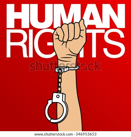 human rights day poster quotes vector stock vector