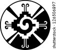 Hunab Ku -Heart of the Galaxy - Mayan symbol for God - stock photo