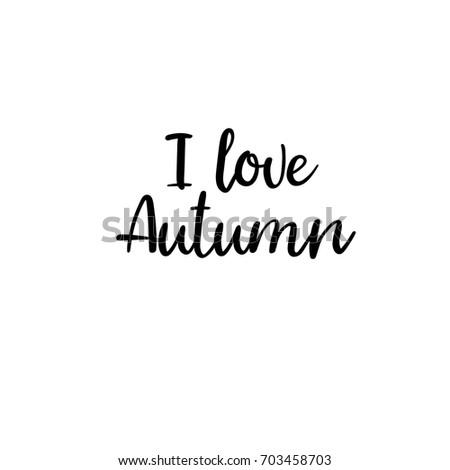 Enjoy Autumn Modern Calligraphy Autumn Greeting Stock Vector ...