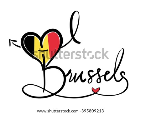 I Love Brussels - Vector Graphic