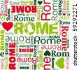 i love Rome seamless background pattern in vector - stock vector
