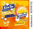 Iced Tea label elements - stock photo