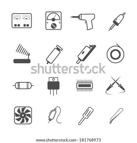 icon electronic repair tool, vector