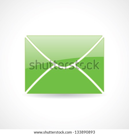 icon of the envelope. vector eps10