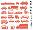 Icon set. Cars. For you design - stock photo