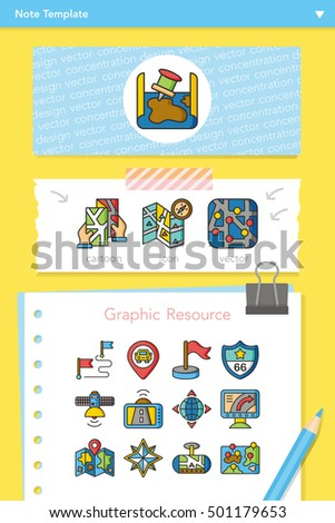 icon set navigation vector