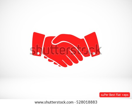 Icon vector of handshake sign