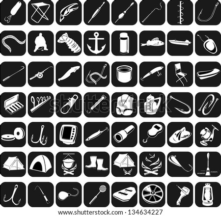 Icons for fishing