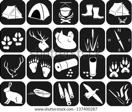 Icons for hunting