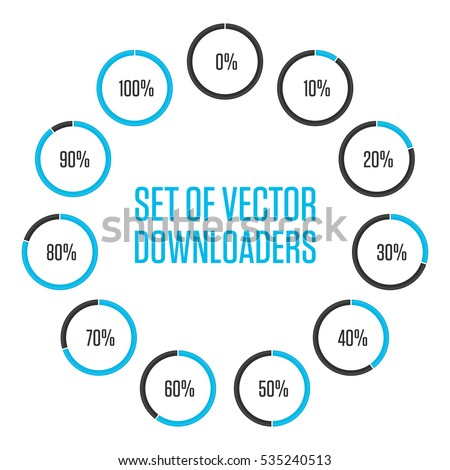 Icons pie graph circle percentage blue stock vector 535240513 icons pie graph circle percentage blue chart infographics vector 0 10 ccuart Choice Image