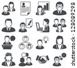 Icons set: business people - stock vector