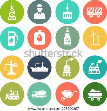 icons set of Industrial