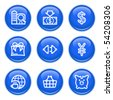Icons with glossy buttons 24 - stock vector